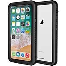 ImpactStrong iPhone X Waterproof Case FS [Facial Recognition Compatible] Slim Full Body Protection for Apple iPhone X - Jet Black