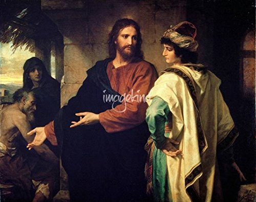 Wall Art Print Entitled Christ and The Rich Young Ruler, 1889, Heinrich Ho by Celestial Images | 20 x 16