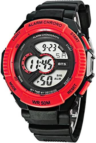 Boys trends in outdoor sports watches/Waterproof luminous creative digital watch-H