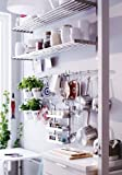 Ikea Grundtal 23'' Rail + 5 Hooks Stainless Steel Untensil Hanger Pot Pan Holder Kitchen Storage Organizer Set
