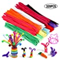 320 Pcs Pipe Cleaners Chenille Stems, Assorted Colors for DIY Art Craft Decorations(6 mm x 12 inch)