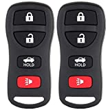 Mushan 2 Replacement Keyless Entry Remote Key Fob Transmitter Clicker Beeper Alarm for 2005-2015 Nissan Armada Compatiable with KBRASTU15 (Black)