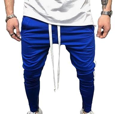 Pantalones de los Hombres Pantalones de Hip Hop Slim Fit Casuales ...