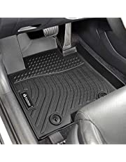 Findway F100 3D Car Floor Mat / Liner (TPE Rubber) for Hyundai Tucson 2021, 2020, 2019, All Weather, Digital Measured, Custom Fit, Waterproof. Ship from Canada, 3-Year Warranty. For 1st row and 2nd row only - Black