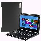 Broonel London - Profile Series - Black Vegan Leather Laptop Case Cover Sleeve For The Lenovo ThinkPad X1 Yoga