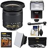 Nikon 10-20mm f/4.5-5.6G DX AF-P VR Zoom-Nikkor Lens with 3 UV/CPL/ND8 Filters + Flash + Soft Box + Lighting DVD + Kit