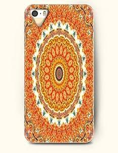 OOFIT New Apple iphone 5 / 5S Hard Back Case - MANDALA CIRCLE - Yellow Red Mandala Circle Pattern