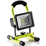 LED Work Light with Magnetic Stand 15W 24 LED Rechargeable Shop Light Portable Outdoor Camping Spotlights with Dual USB Port and Emergency SOS Mode