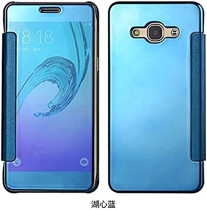 Samsung J5 2015 Case UV Coating Mirror Flip cover Case for Samsung ...