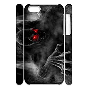 Iphone 5C Bloody skeleton 3D Art Print Design Phone Back Case Use Your Own Photo Hard Shell Protection YT073446