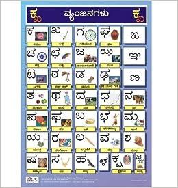 Kannada Alphabet Charts Consonants For Kids Kannada Vyanjana Kannada Wall Chart 2013