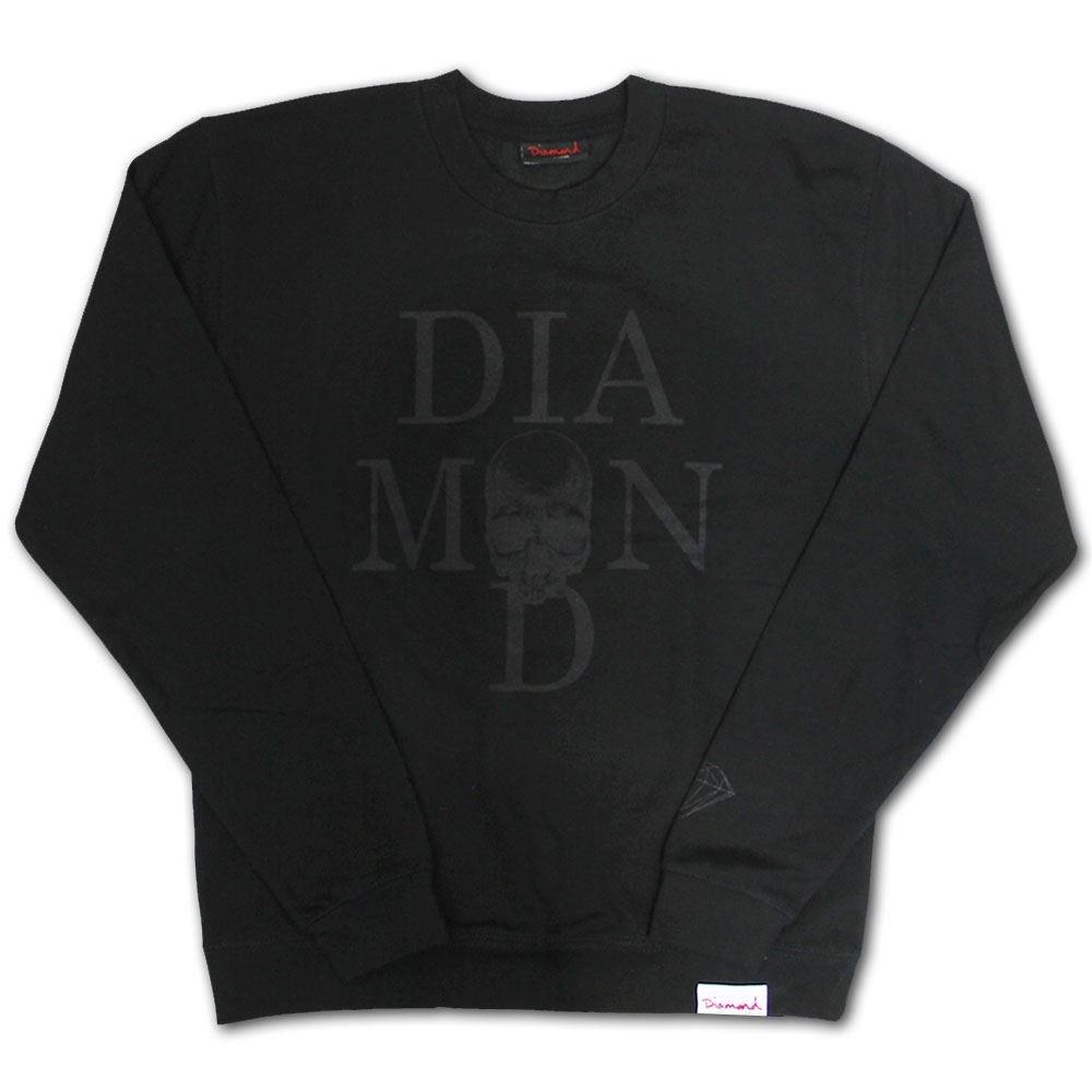 Diamond Supply Co. Skull Sweatshirt schwarz