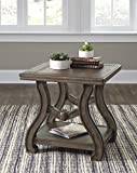 Tanobay Gray Color Traditional Square End Table For Sale