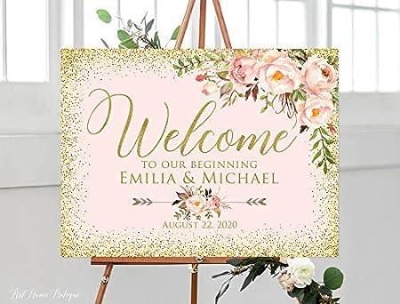 Bair89Pulla - Cartel de Bienvenida Floral, diseño de Flores ...