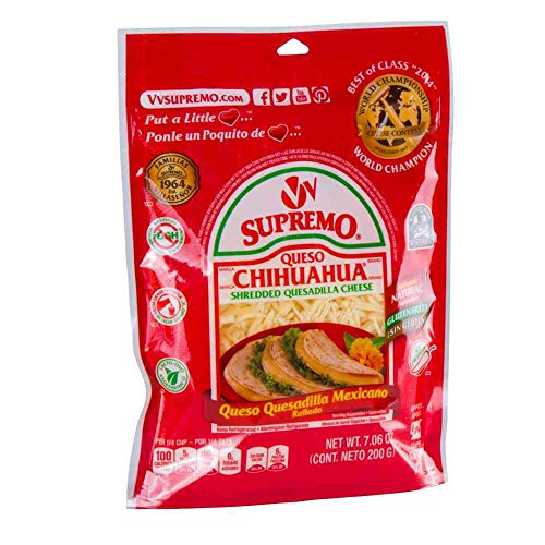 Supremo Queso Chihuahua Shredded Quesadilla Cheese, 7.06 Ounce -- 12 per case. ()