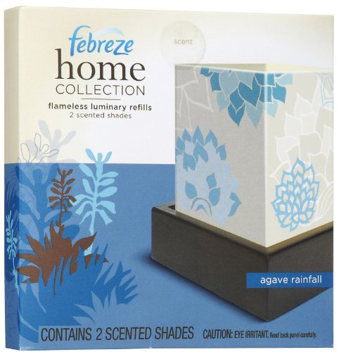 Febreze Home Collection Flameless Luminary Agave Rainfall, 2 Count