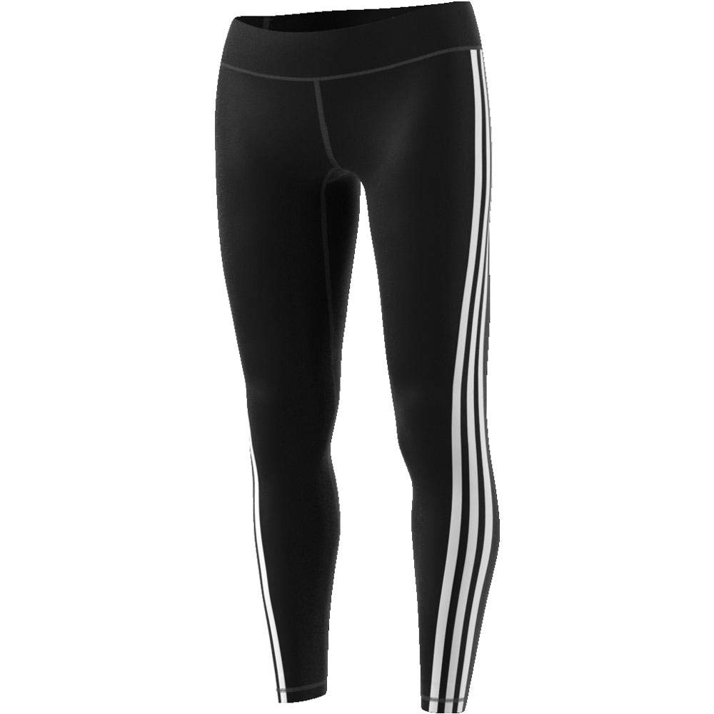 adidas Damen Believe This Regular-Rise Solid 3 Stripes Tights