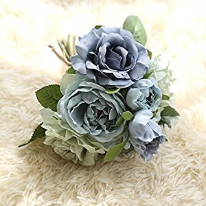 NIHAI Artificial Flower Looks Realistic and Beautiful Fake Rose Floral for Wedding Bouquet Bridal Hydrangea Garden Party Home Decorations 44