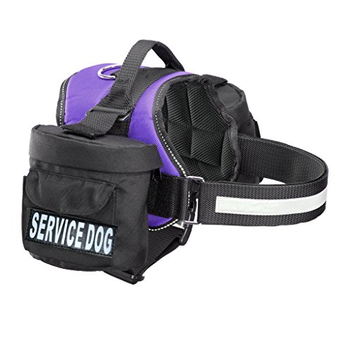 Doggie Stylz Service Dog Harness with Removable Saddle Bag Backpack Carrier Traveling Carrying Bag. 2 Removable Patches. Please Measure Dog Before Ordering. Made ()