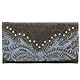 American West Women's Annie's Secret Tri-Fold Wallet Brown One Size