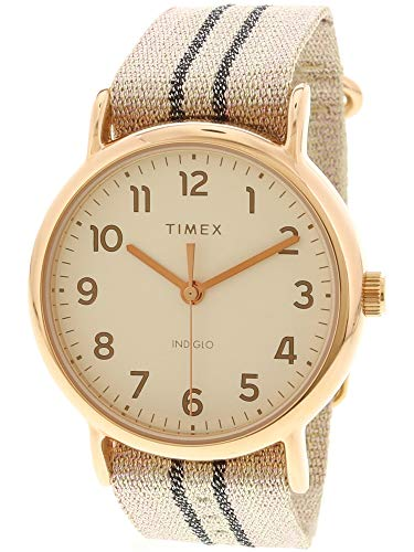 (Timex Women's Weekender TW2R92100 Rose-Gold Nylon Japanese Automatic Fashion)