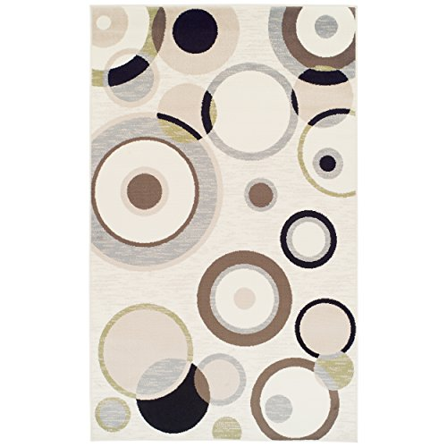 Superior Modern Ringoes Collection Area Rug, Cream, 8' x 10'