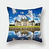 Custom Satin Pillowcase Protector Chateau De Chambord Royal Medieval French Castle And Reflection Loire Valley France Europe 561689686 Pillow Case Covers Decorative