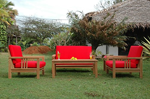 Anderson Teak Patio Lawn Garden Furniture SouthBay Deep Seating Collection - Love seat