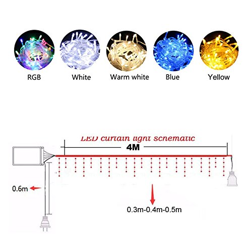 Led Lighting Christmas Garland Led Curtain Icicle String Light 220v 4.5*3m Indoor Drop Led Party Garden Stage Outdoor Decorative Light Led String