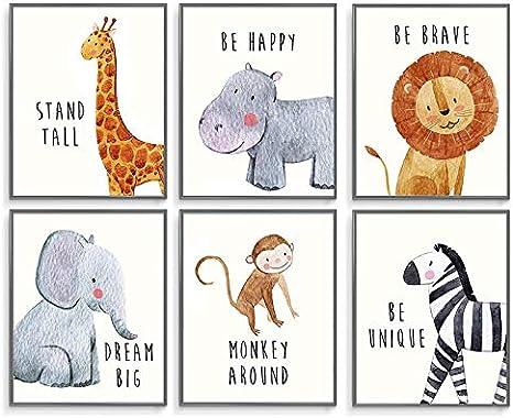 Motivational Art Collection Inspirational Animals 11x14 Print Animals Decor For Kids Kids Decor Inspirational Art Children Inspire Design Nursery Decor Woodland Nursery