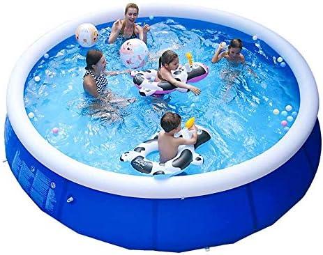 TYUIO 中庭プール、11.8 * 2.5Ftホームアダルトチルドレンの屋内プールのある空気ポンプおよび修復ツール、簡単には家族のためにインストールします