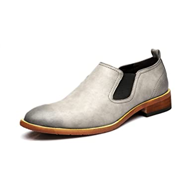 Feidaeu Mocassins Fashion Derby Microfibre Loisir Hommes Outdoor Bout  Respirent Plat Confortable Chaussures a76b5fc862ae