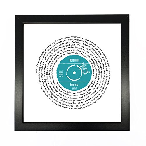 Song Lyrics Print - Personalized Vinyl Record Design - Ideal First Dance Poster with Customized Record Label - Paper Anniversary or First ()