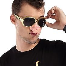 D.O.T Fake Pig Nose Fancy Dress Up Costume Props Glasses (Gold)