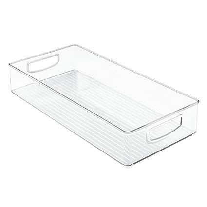 InterDesign Plastic Kitchen Binz 16 X 8 X 3   Clear