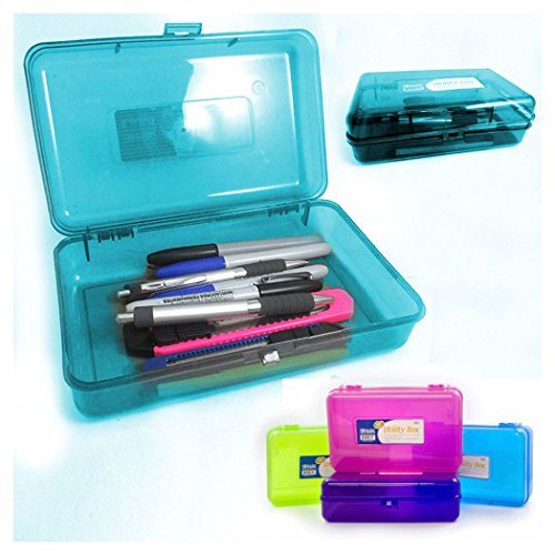 Plastic Pencil Box Case Kids School Office Supplies Pen Art Craft Organizer from Unknown