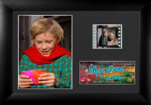 Film Cell Genuine 35mm Framed & Matted Willy Wonka and the Chocolate Factory Charlie USFC6335 Film Cell Factory