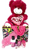 Merry Christmas Holiday Gift Set for Her Mom Grandmother Wife Girlfriend Musical SINGING Teddy Bear Scarf Mask Lotion Bath Bundle BOX