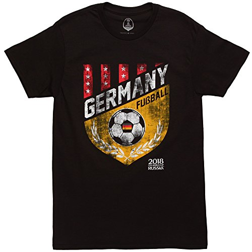 FIFA Men's Russia 2018 Country Crest Tees, Black//Germany, Large