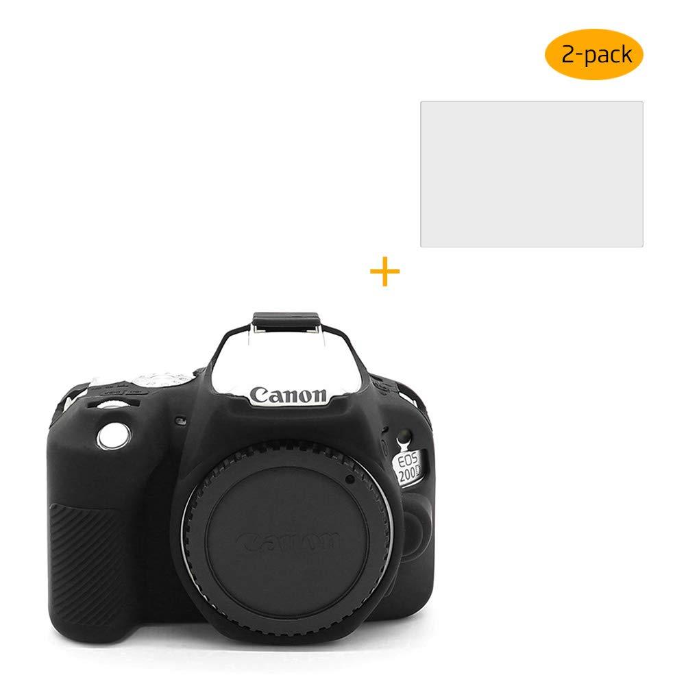 RIEIBI - Carcasa de Silicona para cámara Canon EOS 200D 250D y 2 ...