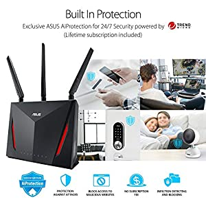 ASUS AC2900 WiFi Gaming Router (RT-AC86U) - Dual Band Gigabit Wireless Internet Router, WTFast Game Accelerator…