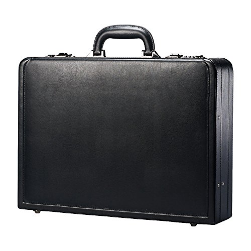 Samsonite Bonded Leather Attach Case, 13'H x 17.9'W x 4 1/4'D, (Case Bonded Leather)