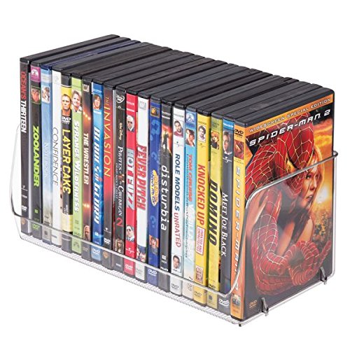 mDesign Household Storage Bin for DVDs, Video Games, Game Accessories - Clear by mDesign