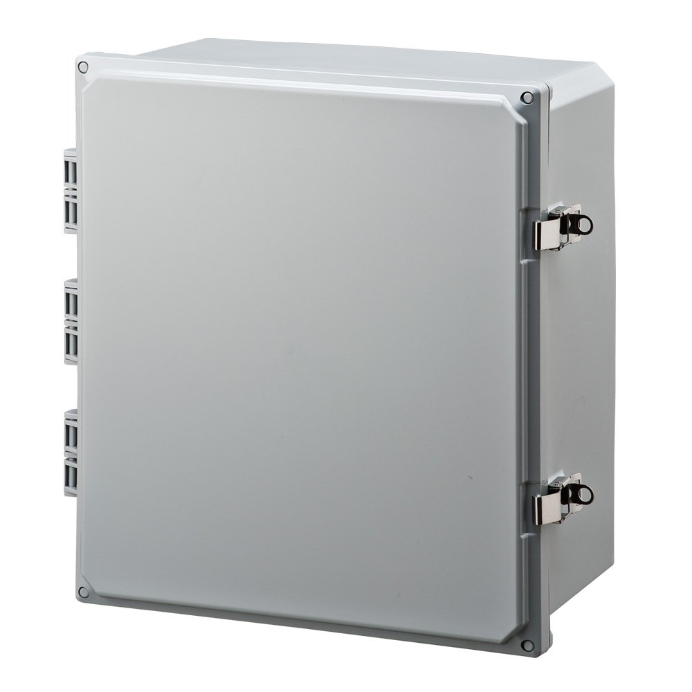 Integra H161407HLL Premium Line Enclosure, Hinged, Locking Latch Cover, Opaque Cover, Mounting Feet, 16'' Height, 14'' Width, 7'' Depth