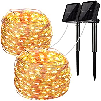 Solar String Lights Ankway 200 Led Fairy 8 Modes 3strands. Solar String Lights 2 Pack 100 Led Fairy 33 Feet 8 Modes Copper Wire Waterproof Outdoor For Garden Patio Gate Yard Party. Wiring. Wiring Diagram Solar String Lights At Scoala.co