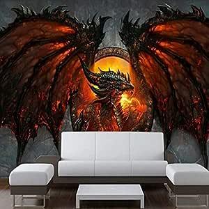 ZHENSI Fondos De Pantalla 3D Fondo De Pantalla 3D Dragon Wallpaper ...