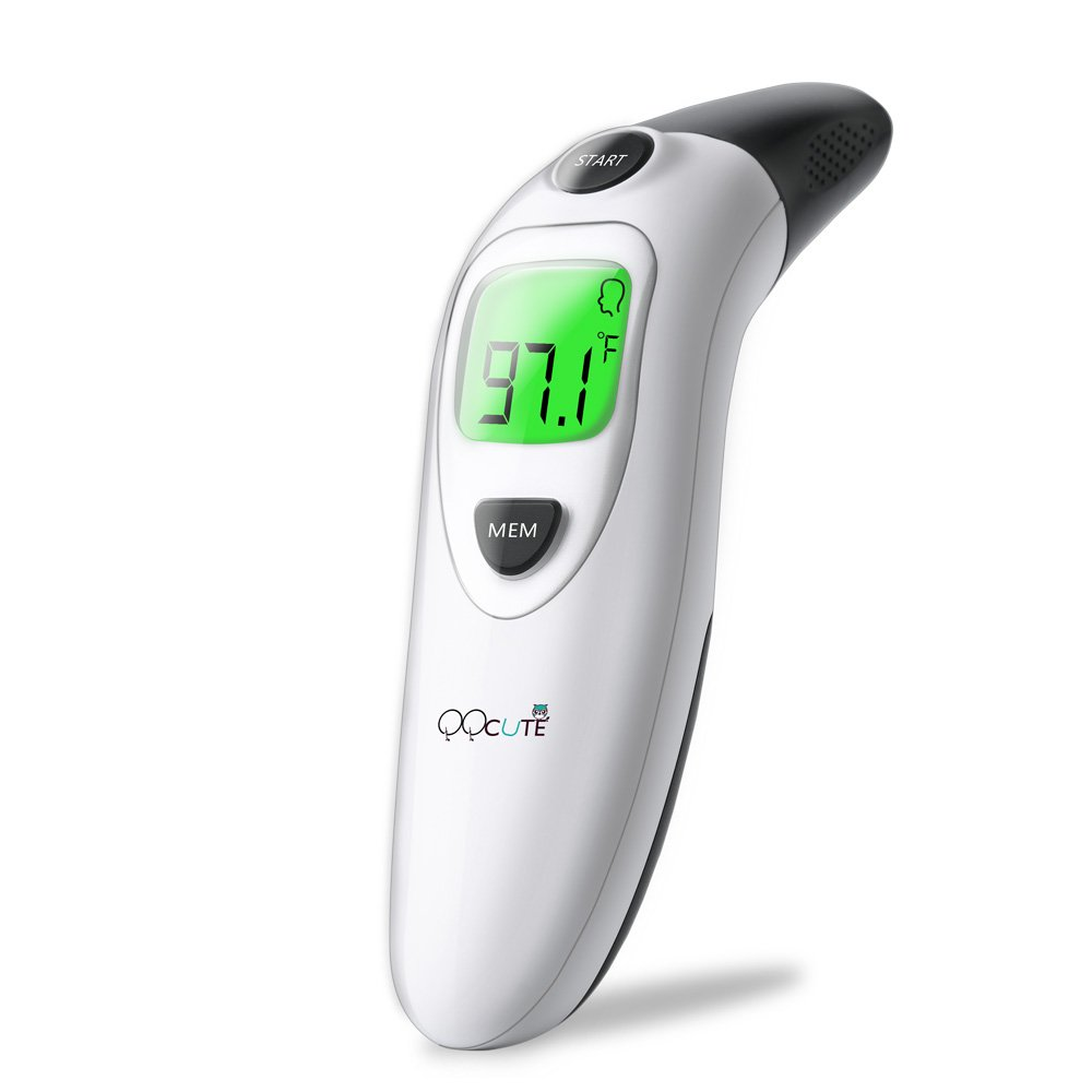 QQcute Digital Infrared Forehead Thermometer More Accurate Medical Fever Body Basal, Black, 80 Gram