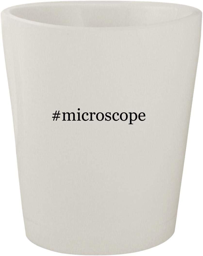 #microscope - White Hashtag Ceramic 1.5oz Shot Glass