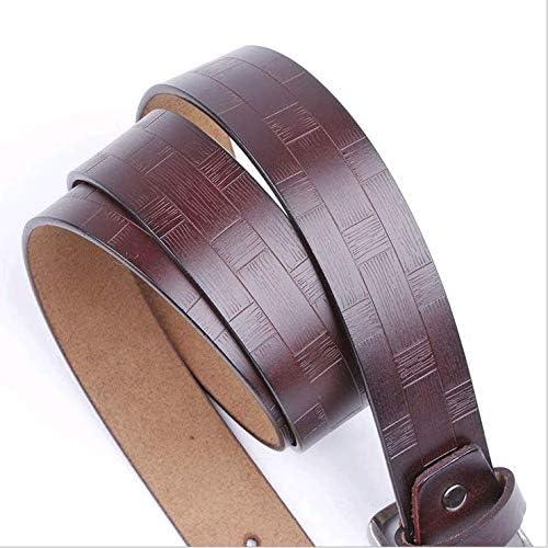 CARTER PAUL Mens Buckle Waistband Engraving Embossing Leather Belt Buckle Black