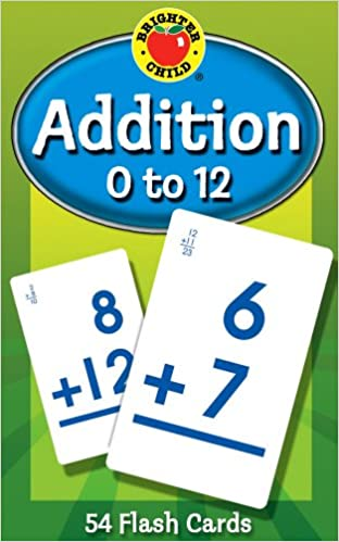 Buy Addition 0 to 12 54 Flash Cards Brighter Child Flash Cards